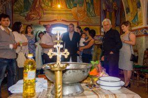 Заснемане на Свето кръщение на Диан Димитров от Добри Добрев Фото Велико Търново